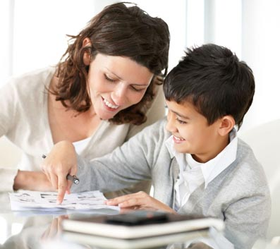 Helping your dyslexic child - parent with child