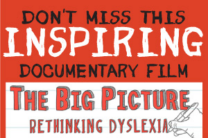 To book your ticket for The Big Picture Call 0508 DYSLEXIA
